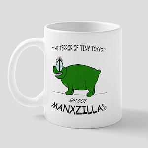 manxzilla_10x10-grn-tokyo Mugs