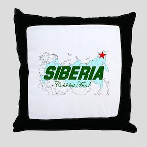 Siberia: Cold But Fun! Throw Pillow