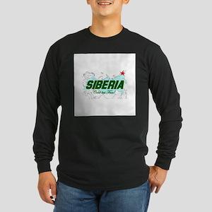 Siberia: Cold But Fun! Long Sleeve Dark T-Shirt