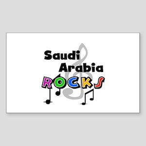 Saudi Arabia Rocks Rectangle Sticker