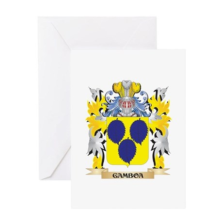 Gamboa Coat of Arms - Family Crest Greeting Cards