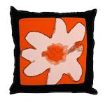 Flower Throw Pillow (Orange)