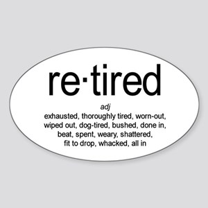 Definition of Retired Oval Sticker