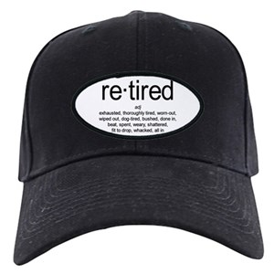 3d7689291bb Retired Black Cap With Patch - CafePress
