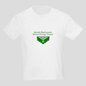 Irish National Beer Pong Team Kids Light T-Shirt