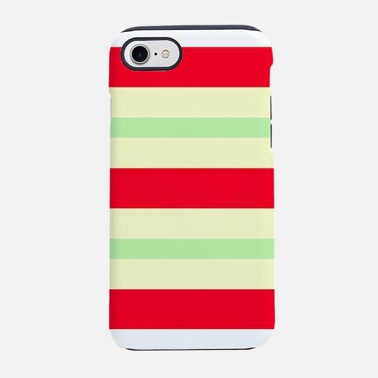 Joyous Stripes Red Wild 4Oli iPhone 8/7 Tough Case