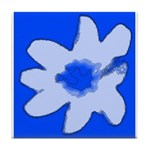 Flower Tile Coaster/Trivet (Blue)