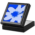 Flower Keepsake Box (Blue)