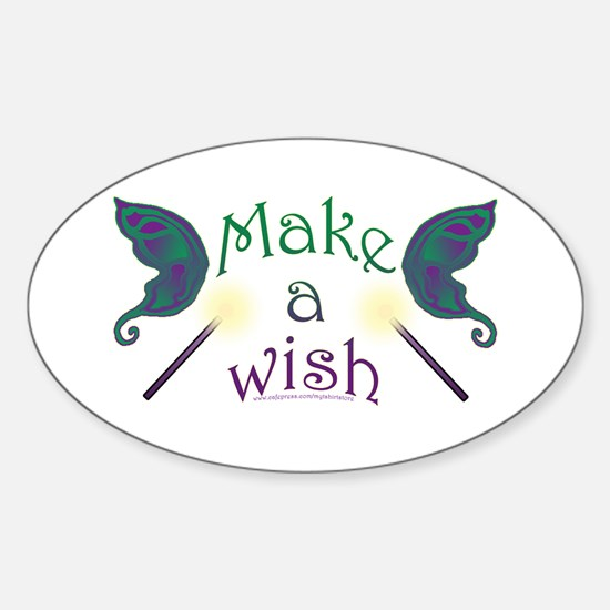 Make a wish Oval Decal