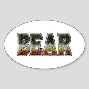 BRICK BEAR-PRIDE TEXT Oval Sticker