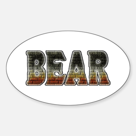 BRICK BEAR-PRIDE TEXT Oval Decal