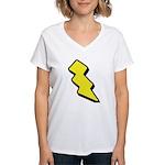 Lightning Bolt Women's V-Neck T-Shirt