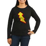 Lightning Bolt Women's Long Sleeve Dark T-Shirt