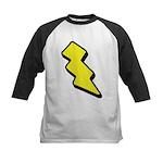 Lightning Bolt Kids Baseball Jersey