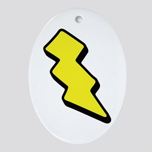 Lightning Bolt Oval Ornament