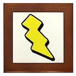 Lightning Bolt Framed Tile