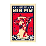 Obey the Min Pin! USA Mini Poster Print