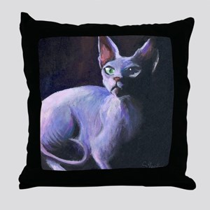 Sphynx Cat #13  Throw Pillow
