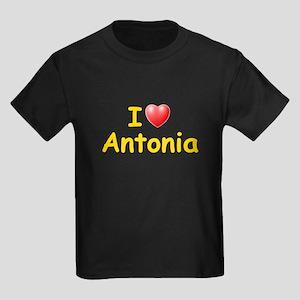 I Love Antonia (L) Kids Dark T-Shirt
