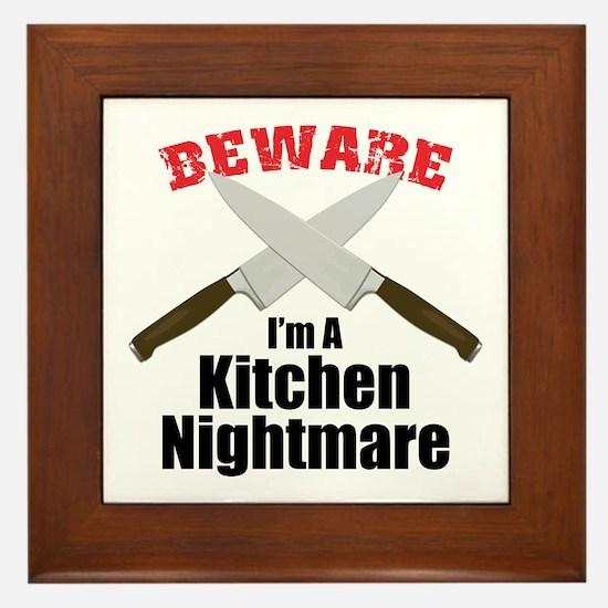 Kitchen Nightmare Framed Tile