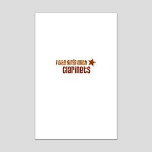 I Like Girls with Clarinets Mini Poster Print