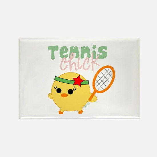 Tennis Chick Rectangle Magnet