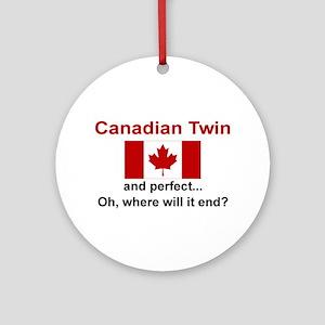 Perfect Canadian Twin Ornament w/ribbon