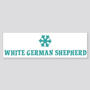 WHITE GERMAN SHEPHERD Snowfla Bumper Sticker
