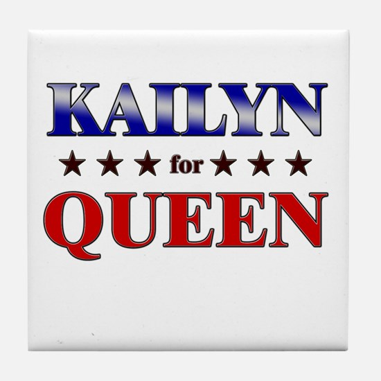 KAILYN for queen Tile Coaster