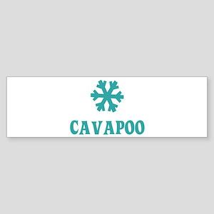 CAVAPOO Snowflake Bumper Sticker