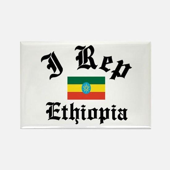 I rep Ethiopia Rectangle Magnet