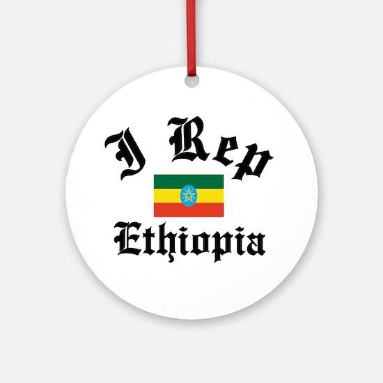 I rep Ethiopia Ornament (Round)
