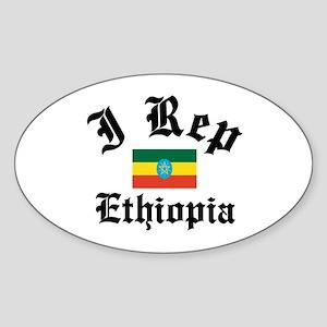 I rep Ethiopia Oval Sticker