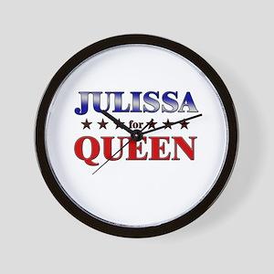JULISSA for queen Wall Clock