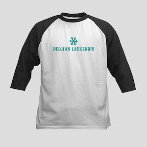 BELGIAN LAEKENOIS Snowflake Kids Baseball Jersey