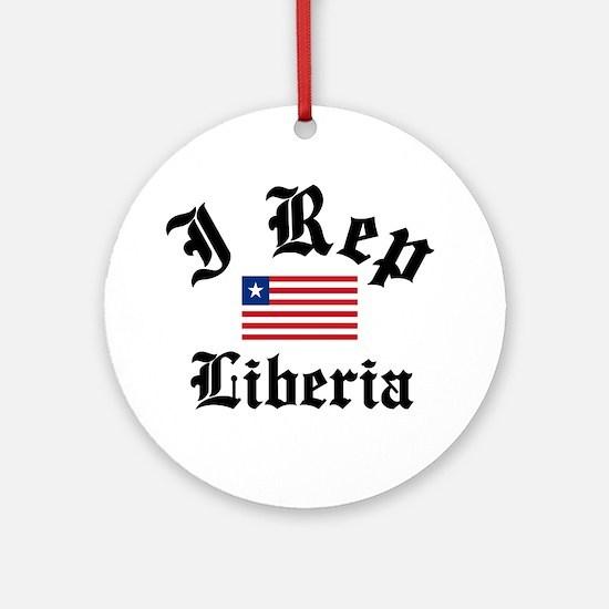 I rep Liberia Ornament (Round)