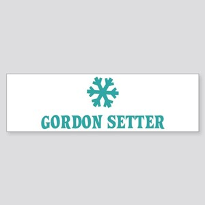 GORDON SETTER Snowflake Bumper Sticker