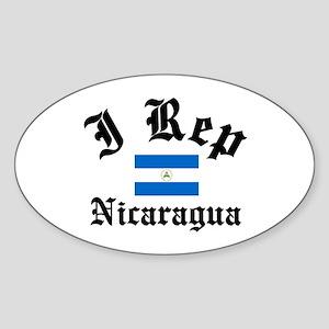 I rep Nicaragua Oval Sticker