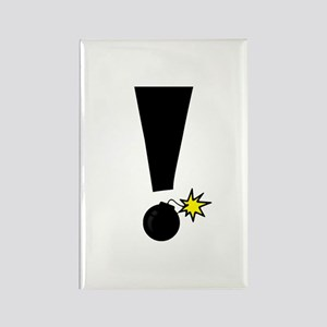 Exclamation Bomb! Rectangle Magnet