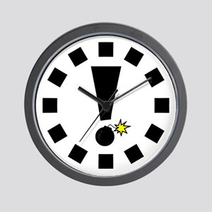 Exclamation Bomb! Wall Clock