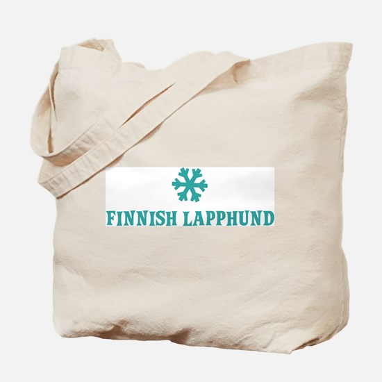 FINNISH LAPPHUND Snowflake Tote Bag