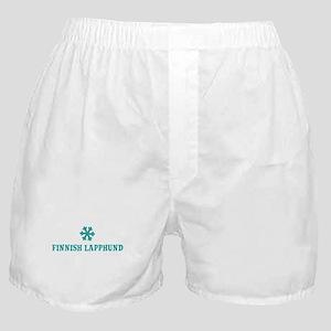 FINNISH LAPPHUND Snowflake Boxer Shorts