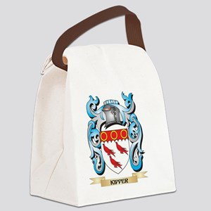 Kipper Coat of Arms - Family Cres Canvas Lunch Bag