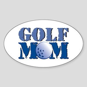 Golf Mom Sticker (Oval)