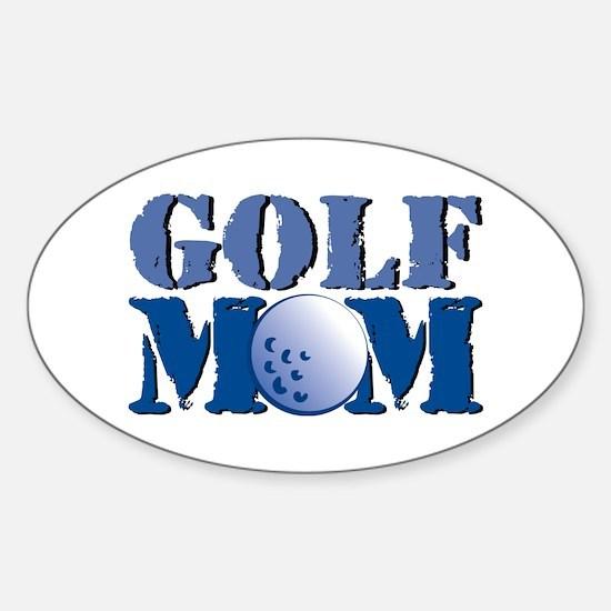 Golf Mom Oval Decal