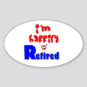 Retirement Bliss.:-) Oval Sticker