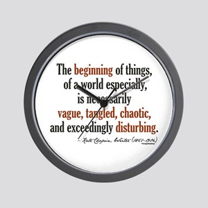 Kate Chopin Creation Quote Wall Clock