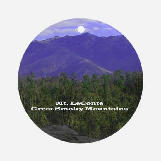Mt Leconte (round) Round Ornament