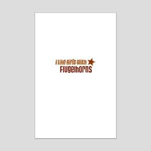 I Like Girls with Flugelhorns Mini Poster Print