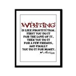 Moliere Writing Quote Framed Panel Print
